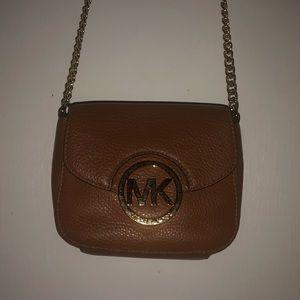 Michael Kors Tan / Brown Crossbody Bag